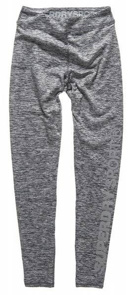 Superdry, core gym legging speckle charcoal