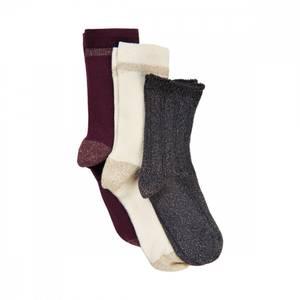 Bilde av Creamie, 3 pk sokker tawny