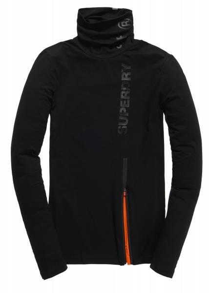Superdry, gym sport runner funnel neck black