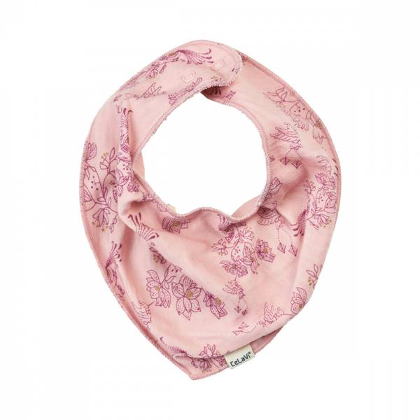 Celavi smekke silver rosa i ullbambus