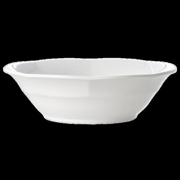 Rice, dyp tallerken i melamin, hvit