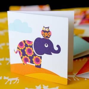 Bilde av Blafre, lite kort , elefant
