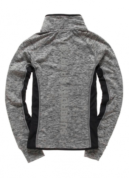 Superdry, Core gym track top speckle charcoal
