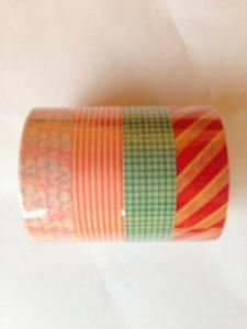 """Bilde av Washitape, """"red stripes"""" , 4"""