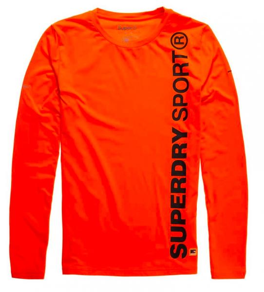 Superdry, gym sport runner top fluro orange