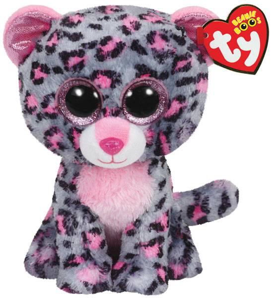 Ty, Tasha pink/grey leopard medium