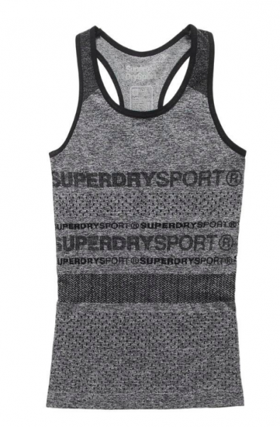 Superdry, speckle charcoal gym seamless vest
