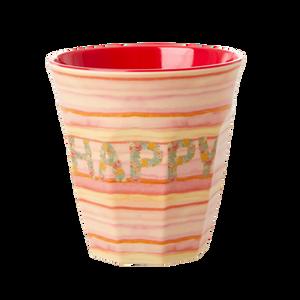 Bilde av Rice, kopp Happy pink print