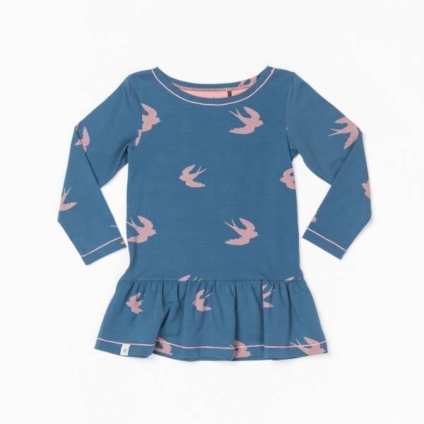 Albababy, Skylar dress dark denim bird