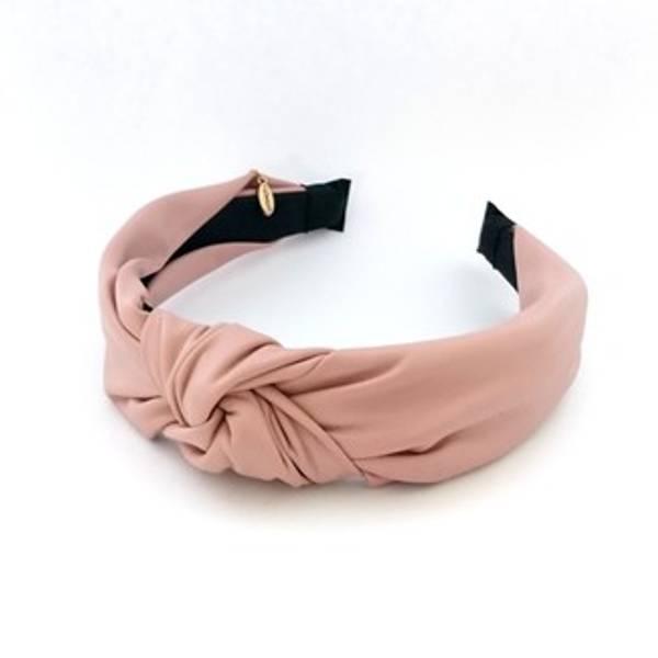Noma, hårbøyle i leatherlook dusty pink