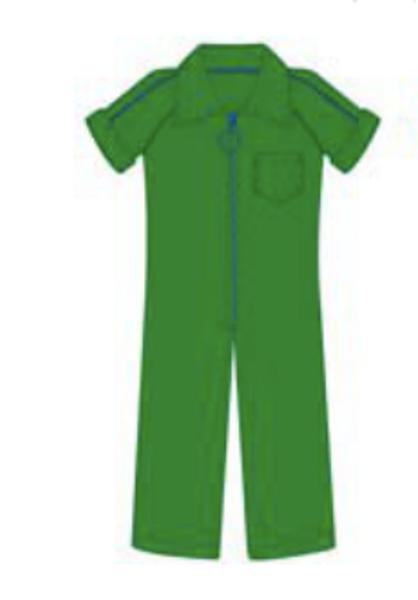 Lily Balou,  Flor jumpsuit grønn/blå