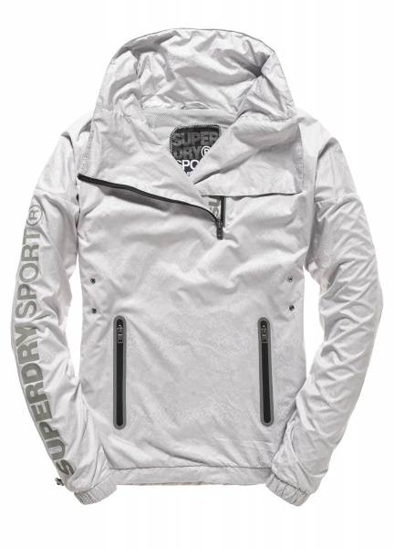 Superdry, gym funnel shell hood ice python