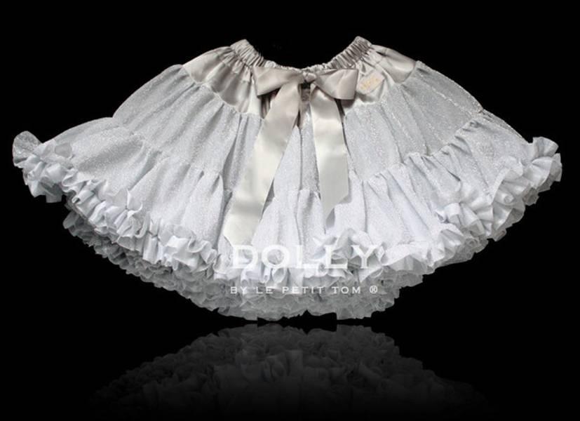 Dolly, Pettiskirt glitter silvergrey