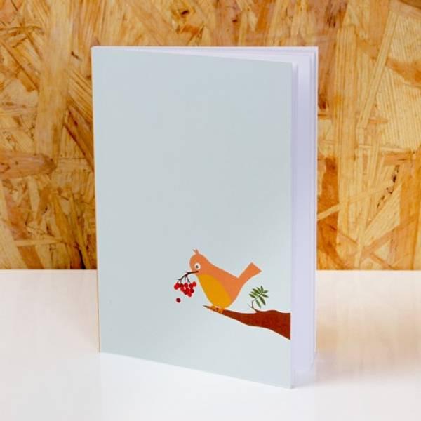 Blafre, notatbok, fugl