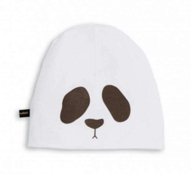 Mini rodini, panda rev beanie red