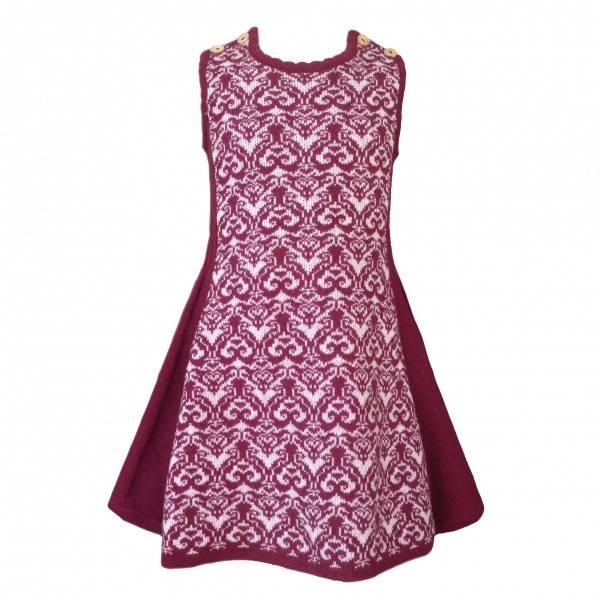 Mole little Norway, Rose kjole med folder burgunder