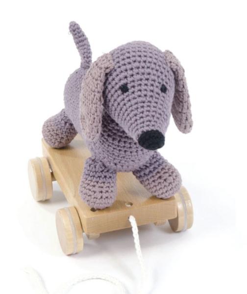Smallstuff, pull-along dog pudder