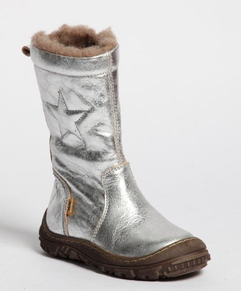 Bisgaard texstøvlett sølv 61024