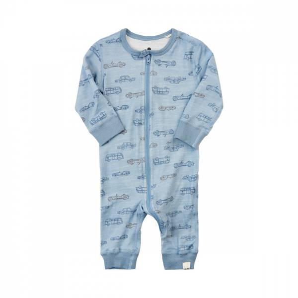 Celavi jumpsuit dusty blue ullbambus