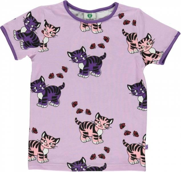 Småfolk lavendel tskjorte med katter