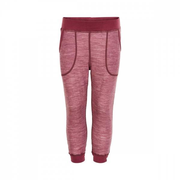 Celavi bukse maroon red ullbambus