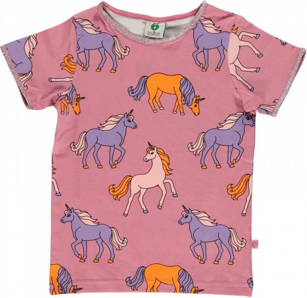 Småfolk sea pink tskjorte med enhjørninger