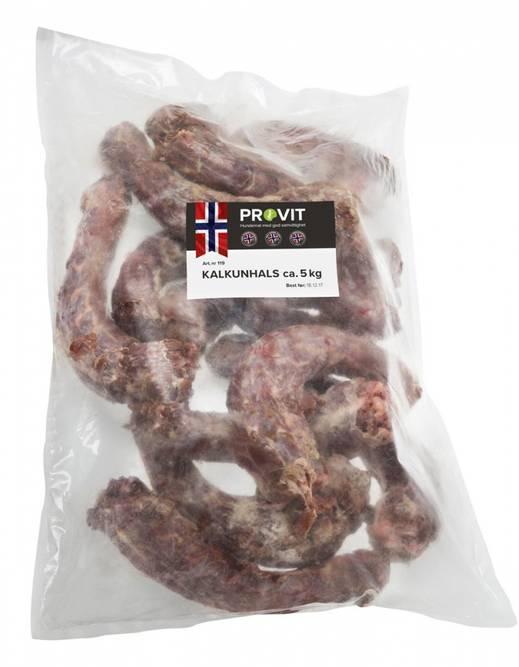 Bilde av Frossent tygg - Kalkunhals fra Provit 5kg