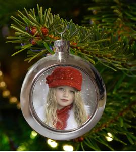 Bilde av Valgfritt bilde, sølv julekule