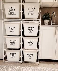 Bilde av 8 stk vaskesymboler