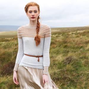 Bilde av Yarntelier Dove sweater Cashmere Lace