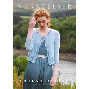 Bilde av Yarntelier Argent beaded cardigan Cashmere Lace