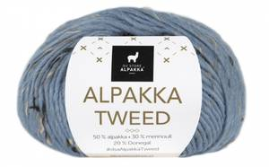 Bilde av DSA Alpakka Tweed 125 Lys Denim garn