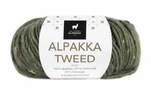 Bilde av DSA Alpakka Tweed 110 Oliven garn