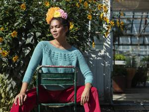 Bilde av Filcolana Frida rundstrikket genser i Saga oppskrift*