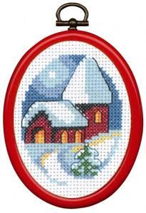 Bilde av Mini Kits julebroderi med ramme 13-2283 Permin
