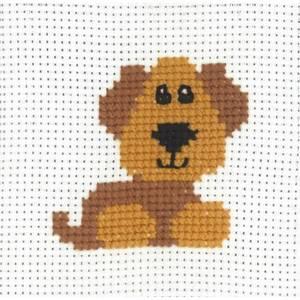 Bilde av My first kit Hund 8 x 8 cm Broderi for barn Permin