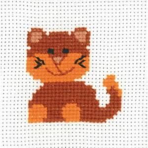 Bilde av My first kit Katt 8 x 8 cm Broderi for barn Permin