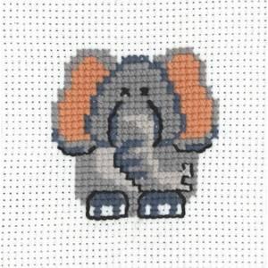 Bilde av My first kit Elefant 8 x 8 cm Broderi for barn Permin