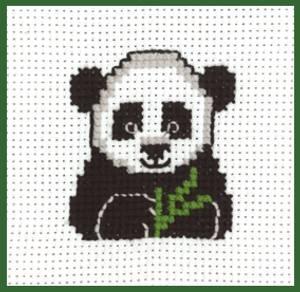 Bilde av My first kit Panda 8 x 8 cm Broderi for barn Permin