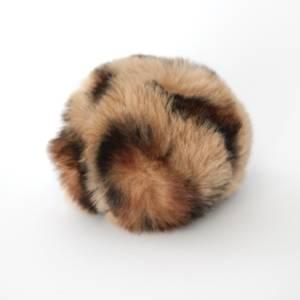 Bilde av Dusk i fuskepels trykknapp 6 cm - beige/brun/svart