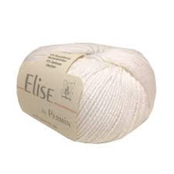 Permin Elise 10 Hvit garn