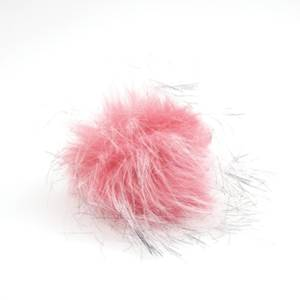 Bilde av Dusk i fuskepels trykknapp 8 cm - rosa/svart