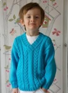 Bilde av 2061 Flette genser barn Stina
