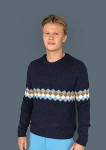 Bilde av Erling genser voksen enkeloppskrift Sandnes garn**