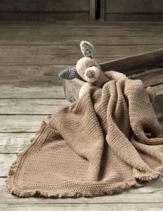 Bilde av 4509 Heklet barnevognsteppe i Hot Socks Pearl kasjmir