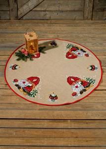 Bilde av Syngende nisser, rundt juletreteppe 120 cm