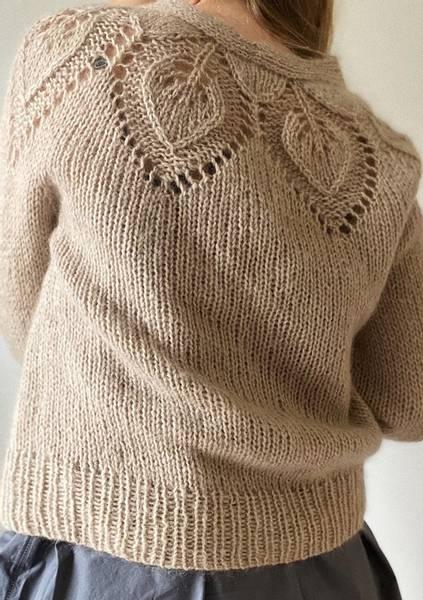 Le Knit Chunky Dahlia V-neck cardigan oppskrift*