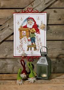 Bilde av Julekalender, nisse, gutt og hund