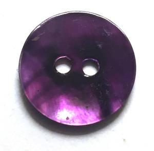 Bilde av Knapp, 18 mm, rund perlemor lilla