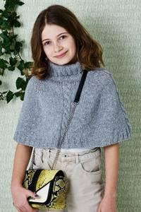 Bilde av 899107 Isabella Poncho til jente Permin oppskrift*